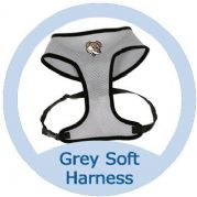 Grey and Black Softy Dog Harness